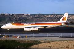 Iberia Cargo DC-8-62F EC-EMD MAD 03/04/1999 (jordi757) Tags: airplanes avions nikon f90x kodachrome kodachrome64 mad lemd madrid barajas mcdonnell douglas dc8 dc862 iberia iberiacargo ecemd