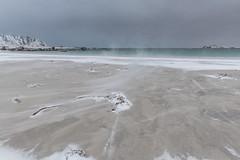 Beach blown snow (Keith - Glasgow) Tags: arctic wildphotographyholidays wph beach ramberg winter travel wind snow lofoten shore norway landscapes coast d850 sea nordland no