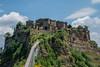 The Clinging Town (Tati@) Tags: civitadibagnoregio lacittàchemuore roccia ponte dyingtown canyon pedestrianbridge