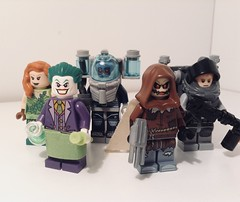 Gotham city rogues: The misfits (Sam K Bricks) Tags: lego gotham city rogues poison ivy the joker mr freeze firefly scarecrow misfits