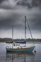 Odin (Merrik76) Tags: odin river deben boat suffolk clouds calm waldringfield hightide