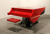 Exhibition in transition (Can Pac Swire) Tags: calgary alberta canada canadian studiobell nationalmusiccentre centrenationaldemusique museum 2017aimg0636 red piano chair