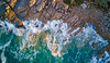 from above (cheezepleaze) Tags: drone mavic fromabove sea rocks waves sunrise abstract coast southaustralia