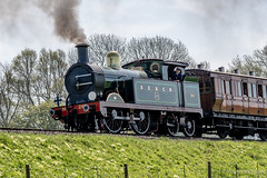 0-4-4T Class H approaches Horsted Keynes (dandridgebrian) Tags: bluebellrailway steamrailway sussex midsussexdistrict england unitedkingdom gb