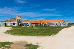 Ruined farm with graffiti, Salgados (alanrharris53) Tags: algarve portugal salgados nature reserve farm dilapidated ruin rubble graffiti explore