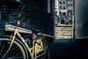 yellow bike (soundmoods) Tags: yellow sunny thenetherlands street city utrecht bicycle bike