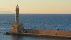 Venetian lighthouse at Chania at sunset IMG_0375 (mygreecetravelblog) Tags: greece crete greekisland greekislands island chania hania xania city town harbour seaside coast seafront water sea sky lighthouse venetianlighthouse chanialighthouse breakwater landmark