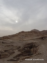 Tombs on the hill (konde) Tags: luxor thebes thebanhills egypt tomb qurn landscape ancient