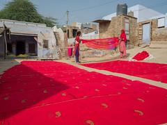 Bikaner fabric printing (monike_pop) Tags: bikaner blockprint india color vibrant handicraft red textile fabric print screenprint