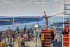 NYC - Views from Top of the Rock/30 Rock - George Washington Bridge (David Pirmann) Tags: skyline skyscraper 30rock topoftherock nyc newyorkcity bridge georgewashingtonbridge hudsonriver river palisades