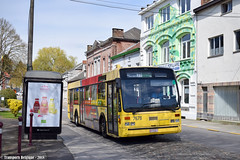 Montigny-Le-Tilleul 7678 (Transports Belgique) Tags: bus à films vanhool a5002 tec charleroi 1998 caterpillar old ancien vh