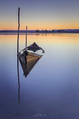 Ria de Aveiro (paulosilva3) Tags: canon manfrotto progrey filters usa sunrise lake water boat dream blue mist silence mountain peace minimalism ria de aveiro portugal