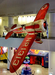 ChicSciMus_030_Travel_Air_TypeR (AgentADQ) Tags: museum science industry chicago illinois 2018 airplane aviation plane transportation gallery travel air typer r racer mystery ship texaco 13