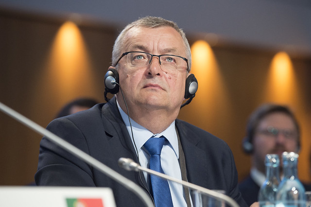 Andrzej Adamczyk attending the Closed Ministerial session