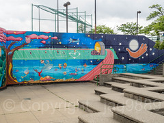 Beautifying Riverbank (2013) Mural, Riverbank State Park, New York City (jag9889) Tags: 2018 20180523 graffiti harlem manhattan mural ny nyc newyork newyorkcity outdoor painting riverbankstatepark streetart tagging usa unitedstates unitedstatesofamerica westharlem jag9889