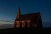 La chapelle d'Etretat éclairée à la tombée de la nuit (flowent) Tags: étretat normandie france fr