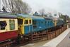 33 Double Header (66Alpine) Tags: greatcentralrailway railway engine diesel steam peak 37 cromwell britania loughborough quorn