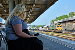 Casual Observer (whosoever2) Tags: uk united kingdom gb great britain nikon d7100 train railway railroad may 2018 england yorkshire sheffield freightliner class66 66618 4m96 peakforest cemex station
