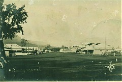 Tannymorel, Qld - circa 1930 (Aussie~mobs) Tags: tannymorel queensland australia vintage town township bank postoffice hotel railwaystation streetscape shops stores darlingdowns