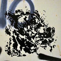 Rorschach Test (id-iom) Tags: abstract accidental aerosolpaint art arts brixton cool england graffiti head horse idiom inkblot london rorschach spraypaint stencil street streetart test uk urban vandalism wall