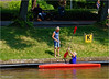 Canoeing (Hindrik S) Tags: canoo kano read red rouge rood water wasser wetter stadsgracht stedsgrêft noardersingel noordersingel green grass gers gras k summer simmer zomer sommer man woman vrouw frau frou mann shadow shade skaad schaduw tamron tamronaf16300mmf3563dillvcpzdmacrob016 2018 sonyphotographing sony sonyalpha a57 α57 slta57 prinsentuin prinsetún