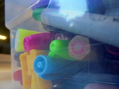 DSC03200 (classroomcamera) Tags: school classroom box boxes container containers marker markers pencil pencils sharpener sharpeners cap caps blue pink yellow color colors rainbow rainbows closeup plastic seethrough clear transparent sharpie sharpies rubbermade