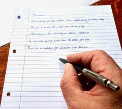 Pangrams 103:365 (2) (♔ Georgie R) Tags: pen ballpointpen parkerjotter pangrams handwriting