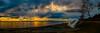 White Rock Pano (rdpe50) Tags: landscape panorama sunset water ocean pier boulder whiterock bc