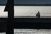 ♫ Sitting In The Morning Sun ....♫ - 071716-072510 (Glenn Anderson.) Tags: morning neuseriver cherrybranchlanding fisherman fishing seawall glare sunshine signpost