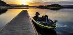 Roosevelt Lake Sunrise (Buck--Fever) Tags: arizona arizonaskies arizonadesert arizonasunrise waterinthedesert water rooseveltlake bassfishing nitrobassboats sunrise centralarizona saltriver saltriverlakes windyhill
