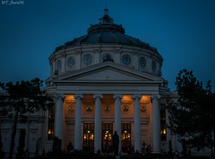 A night at the Athenaeum (WT_fan06) Tags: city bucharest bucuresti romania nikon d3400 dslr photography art artsy artistic aesthetic spring april atmosphere calm peaceful tranquil light warm yellow orange atheneum culture ateneu ateneul roman contrast monument symmetry image4 urban night dark darkness landmark history historic old dome ornaments romantic neoclassical style white blue weiss alt blau rumanien bukarest zentrum abend baum sunset dusk flickr street centre downtown columns triangle round