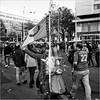 Rotterdam pride (John Riper) Tags: johnriper street photography straatfotografie square vierkant bw black white zwartwit mono monochrome netherlands candid john riper canon 6d 24105 l people feyenoord vanpersie cup beker moped piaggio scooter