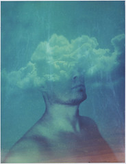 Heavily clouded mind (Maija Karisma) Tags: polaroid instant pola littlebitbetterscan polaroid100landcamera 669 expiredfilm peelapart roidweek2018 roidweek spring