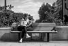 Zenit Jupiter-3 (Зенит Юпитер-3) 50m ƒ1.5 - DSCF0054 (::nicolas ferrand simonnot::) Tags: bokeh depth field dof black white manual prime lens fixed focal length russian zenit jupiter3 зенит юпитер3 pt1655 version manufactured ussr by zagorsky optikomechanichesky zavod 1962 | 13 blades aperture m39 ltm streetphotography street photography portrait candid wide open personnes