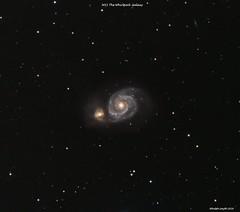 M51 Whirlpool Galaxy - Further Revision (Ralph Smyth) Tags: m51 nikon d5300 m51a m51b canes venatici ed80 galaxy astrometrydotnet:id=nova2488706 astrometrydotnet:status=solved