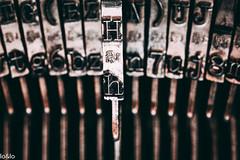 Old Olympia Typewriter (loundlo) Tags: backintheday macromondays