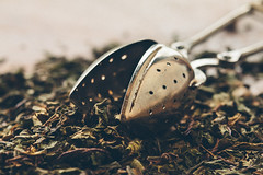 Tea (Inka56) Tags: macromondays backintheday tea tealeaves driedmintleaf teainfuser 7dwf throughherlens