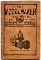 The Model Maker Magazine, December 1933 (Miniature Engineering Museum) Tags: miniature engineering museum collection show model engine v8 one two three four five six seven eight nine ten twelve cylinder jet airplane aircraft radial rotary inline opposed automobile car race boat hydro speed single dual over flat head cam valve gas flash steam stirling oil spark plug rimfire tether rc radio control igniter rocket missile satellite propulsion launch precision machined machining prototype engineer craftsmanship builder craftsman display exhibit exhibition