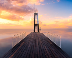 Sunset madness (andreassofus) Tags: sunset clouds sky water ocean sea seascape oceanscape reflections reflection mirror jetty landscape grandlandscape nature outdoor horizon nopeople jumptower canon manfrotto longexposure smooth