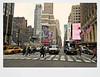 Big City Crossing (Robert S. Photography) Tags: street crossing phones ads billboards hotel scene taxi midtown manhattan newyork sony dscwx150 color iso100 april 2018 stillness movement