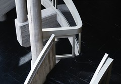 Luis Arranz. Museo de Palencia #15 (Ximo Michavila) Tags: luisarranz museo palencia museum spain archaeology architecture archdaily archidose archiref interior perspective culture concrete dark ximomichavila light shadow abstract pillars stairs handrail graphic