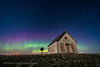 The Liberty Schoolhouse with Aurora (Amazing Sky Photography) Tags: 1910 alberta aurora cassiopeia laowa libertyschoolhouse luminar northernlights polaris sony abandoned oneroom pioneer prairie rustic sky stars