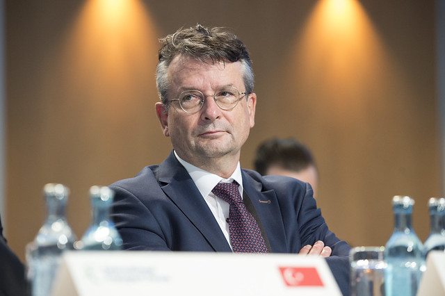 Pierre-André Meyrat attending the Closed Ministrial session