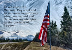 In Remembrance . . . (JLS Photography - Alaska) Tags: memorialday decorationday flag americanflag art digitalart digitalmanipulation jlsphotographyalaska holiday may text writing