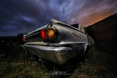 Dodge reliving. (Carlos Server Photography) Tags: fotografianocturna nightscapes nightshot nightphotography clouds lightpainting nubes abandonos abandoned cars dodge coches canon6dmark2 longexposure largaexposición nightscape samyang