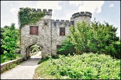 The Folly from the other side. (wilstony1) Tags: thefolly snapseed panasoniclumixgx7 building castle structure outdoors daytime sunny hooelake plymstock plymouth devon uk