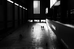 BOILER HOUSE (Florence Bonnin) Tags: photosàlasauvette noiretblanc individus blackandwhite geometrie dark bw fuji rue street lumière florencebonnin londres light shadow