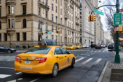 Central Park West (Can Pac Swire) Tags: usa us america american unitedstates newyork city manhattan upperwestside centralpark 2018aimg7470 yellow cab taxi taxicab toyota car camry