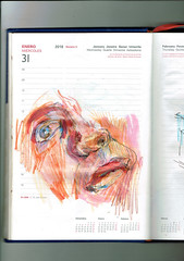 TROZOS DE VIDA (GARGABLE) Tags: angelbeltrán apuntes drawings técnicamixta lápicesdecolores gargable cuaderno