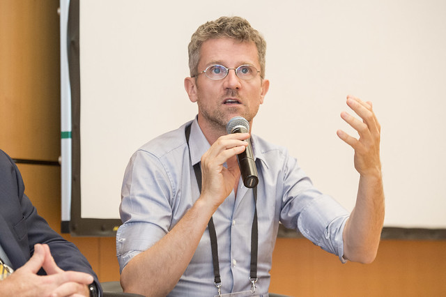 Carlo Ratti addressing the attendees